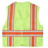 Mutual Industries MiViz ANSI Class 2 Deluxe Dot Mesh Safety Vest With Pockets, Lime, 2XL
