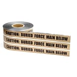 6x1000 Brown Force Main Detectable Tape