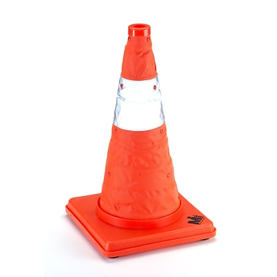 Mutual Industries Collapsible Traffic Cone, 18, Orange