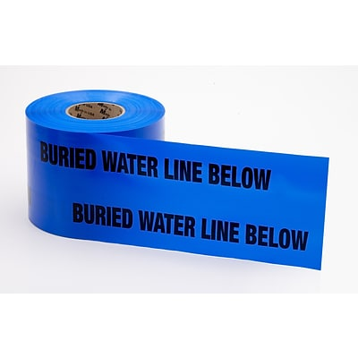 Mutual Industries Water Line Underground Marking Tape, 6 x 1000, Blue