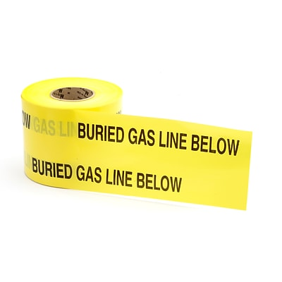 Mutual Industries Gas Line Underground Marking Tape, 6 x 1000, Yellow