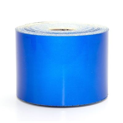 Mutual Industries Pressure Sensitive Retro Reflective Tape, 4 x 50 yds., Blue