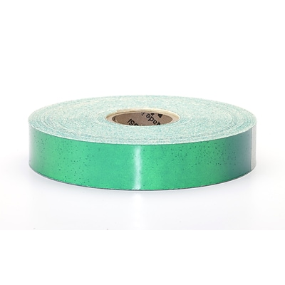 Mutual Industries Pressure Sensitive Retro Reflective Tape, 1 x 50 yds., Green
