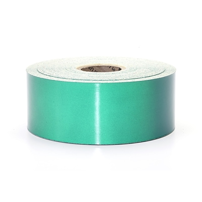 Mutual Industries Pressure Sensitive Retro Reflective Tape, 2 x 50 yds., Green
