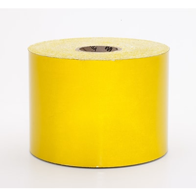 Mutual Industries Pressure Sensitive Retro Reflective Tape, 4 x 50 yds., Yellow