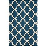 Safavieh Zoey Cambridge Wool Pile Area Rug, Navy Blue/Ivory, 5 x 8