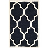 Penelope Cambridge 2x3 Black/IVRY Rug
