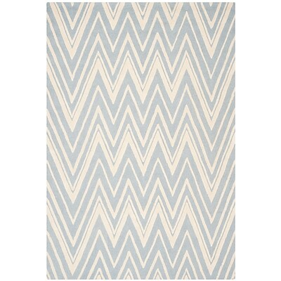 Safavieh Helen Cambridge Wool Pile Area Rug, Blue/Ivory, 8 x 10