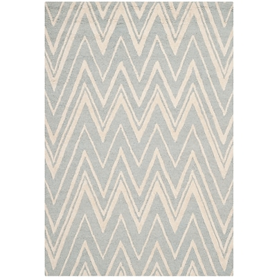 Safavieh Helen Cambridge Wool Pile Area Rug, Gray/Ivory, 5 x 8