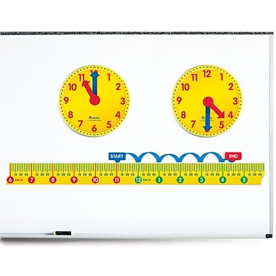 Learning Resources® Magnetic Elapsed Time Set, Grades 2+