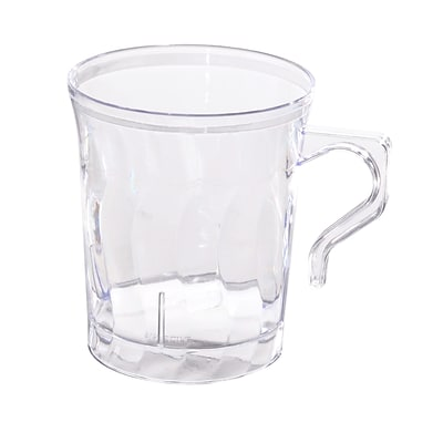 Fineline Settings Flairware 208-CL Coffee Mug, Clear