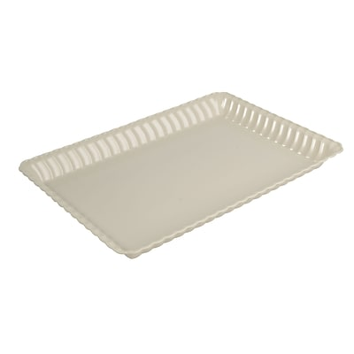 Fineline Settings Flairware 293 Serving Tray; Bone