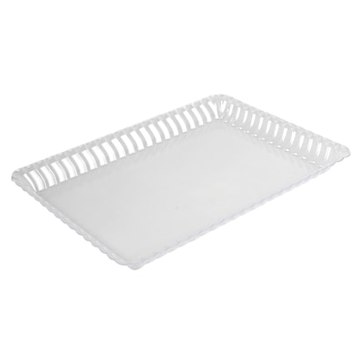 Fineline Settings Flairware 293 Serving Tray Bulk; Clear
