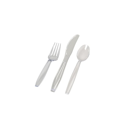 Fineline Settings Flairware 2514-CL Cutlery Combo Bag, Clear
