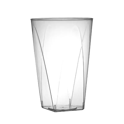 Fineline Settings Savvi Serve 410-SB Clear Square Bottom Tumbler