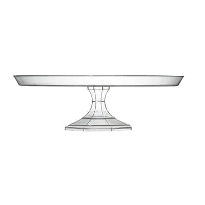Fineline Settings Platter Pleasers 3601 Cake Stand, Clear