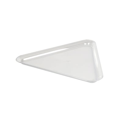 Fineline Settings Platter Pleasers 3561 Triangle Tray, Clear