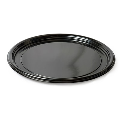 Fineline Settings Platter Pleasers 7610TF Black Vintage Round Tray