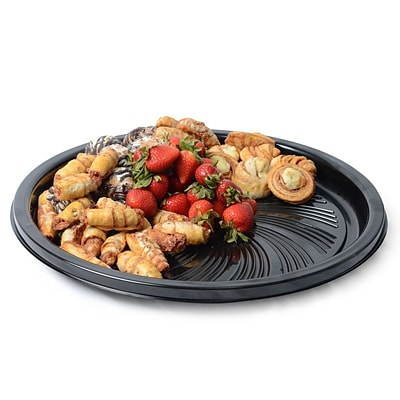 Fineline Settings Platter Pleasers 8810TF Black Majestic Round Tray