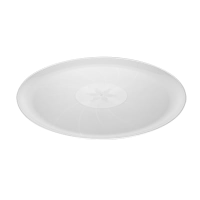Fineline Settings Platter Pleasers 8601 Classic Round Tray, Clear