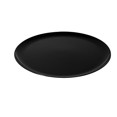 Fineline Settings Platter Pleasers 8201 Classic Round Tray, Black