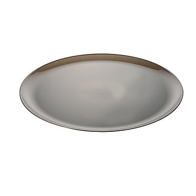 Fineline Settings Platter Pleasers 8601 Classic Round Tray, Smoke