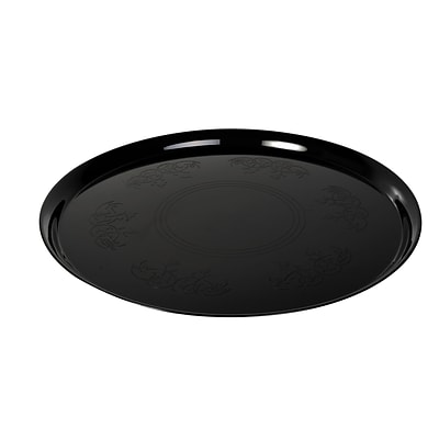 Fineline Settings Platter Pleasers 7201 Supreme Round Tray, Black