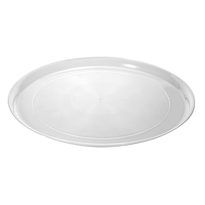 Fineline Settings Platter Pleasers 7201 Supreme Round Tray, Clear