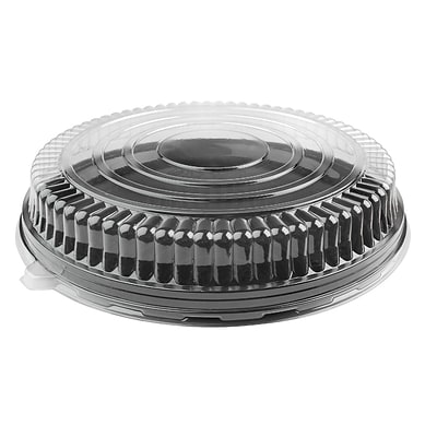 Fineline Settings Platter Pleasers 9801-LL Clear Low Dome PET Lid
