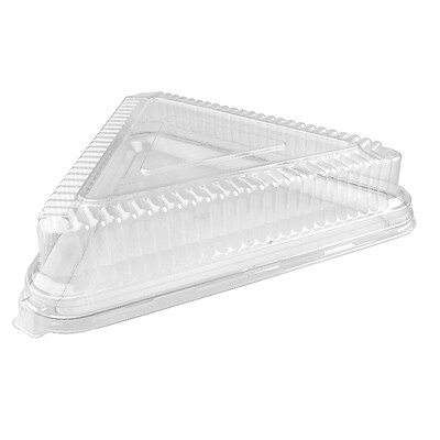 Fineline Settings Platter Pleasers 9561-L Clear Triangle PET Dome Lid