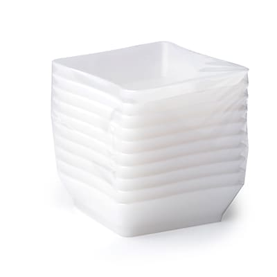 Fineline Settings Tiny Tempts B6201 Tiny Trays Institutional Pack, White