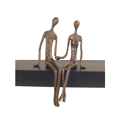 Danya B ZD6349 Sitting Couple Cast Bronze Sculpture