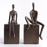 Bookend Set w Man and Woman Sitting