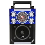 QFX® CS-144 Karaoke Multimedia Speaker AM/FM/SW1-2 Band, Blue
