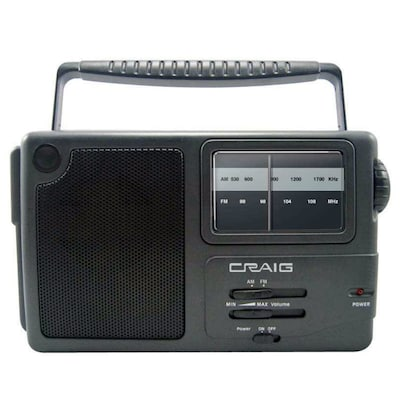 Craig(r) CR4181 Portable AM/FM Radio With Weather Band and Headphone Jack