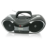 Portable Black Boombox MP3/CD Player