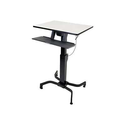 Ergotron® WorkFit-PD Up To 40 lbs. Sit-Stand Desk; Light Gray