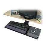 Kensington® Adjustable Keyboard Platform; Black/Graphite Gray; 30 1/2(W) x 10(D) Mouse