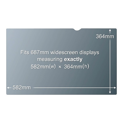 3M™ Privacy Anti-glare Filter for 27 Widescreen Monitor 16:10 (PF270W9B)