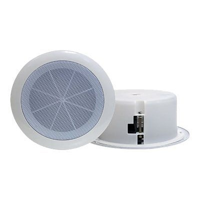 Pyleaudio® PD-ICS6 Full Range Two-Way Ceiling Speaker System; White