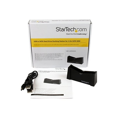 Startech SATDOCK25U USB to SATA External Hard Drive Docking Station For 2 1/2 SATA HDD