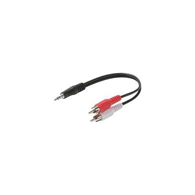 STEREN® 6 RCA Y-Cable Audio Adapter, Black