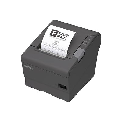 EPSON®TM-T88V Thermal Receipt Printer, Serial and USB, PS180, Dark gray