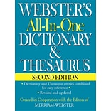 Websters All-In-One Dictionary & Thesaurus