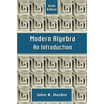 Modern Algebra: An Introduction