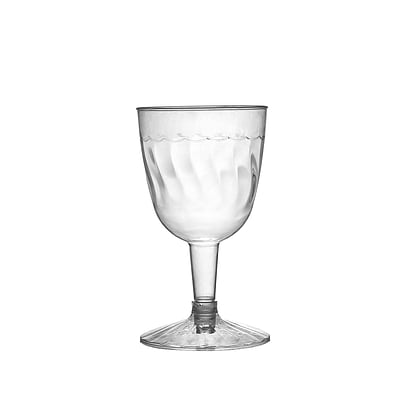 Fineline Settings Flairware 2206 Wine Goblet; Clear