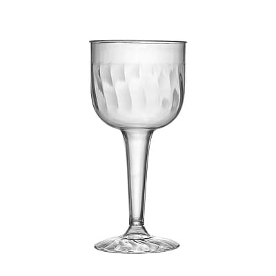 Fineline Settings Flairware 2209 Wine Goblet; Clear