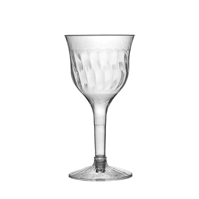 Fineline Settings Flairware 2207 Wine Goblet; Clear
