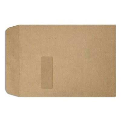 LUX Open End Window Envelopes 9 x 12, Grocery Bag Brown