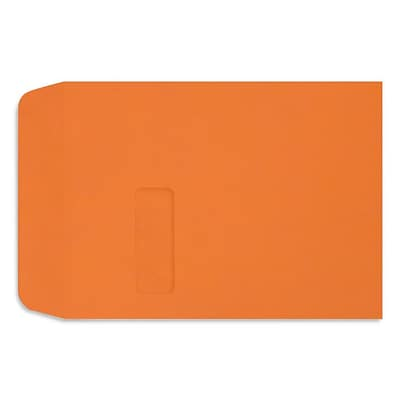 LUX 9 x 12 Open End Window Envelopes, Mandarin Orange (LUX-1590-11-250)